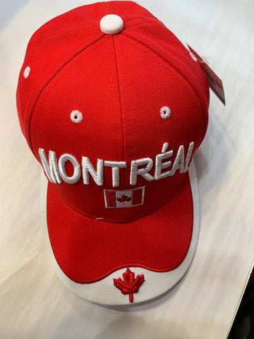 Red Or Red Montreal Canada Flag Cap