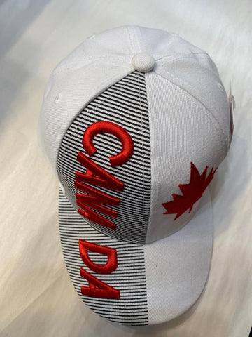 White Canada Maple Leaf Cap