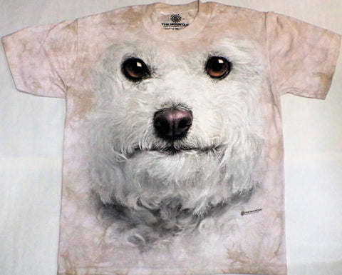 The Mountain T-Shirt - Bichon Frise Face (Adult Unisex)