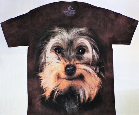 The Mountain T-Shirt - Yorkshire Terrier Face T-Shirt (Adult Unisex)