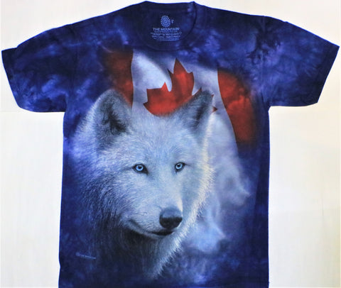 The Mountain T-Shirt - Canadian White Wolf (Adult Unisex)