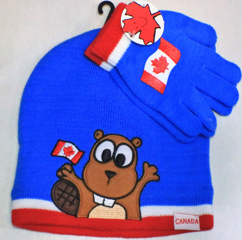 Blue Beaver Tuque