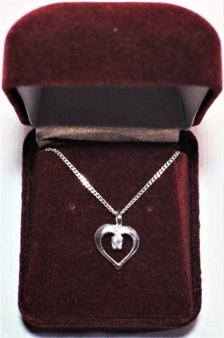 Heart Necklace Sterling Jewelry ( Made In Canada)