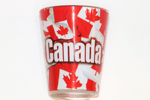 Canadian Flag Shot Glass Souvenir