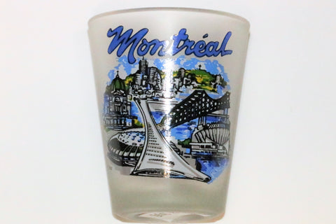 Montreal Attractions Frosted Shot Glass Souvenir