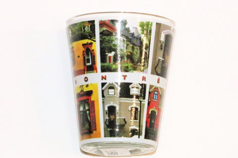 Montreal Street Houses Shot Glass Souvenir