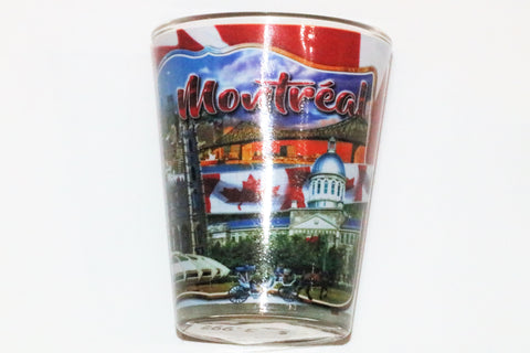 Montreal Canada Views Shot Glass Souvenir