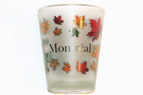 Montreal Colourful Leaves Shot Glass Souvenir