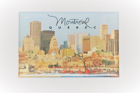 Montreal Quebec Skyline Old Port View Fridge Magnet