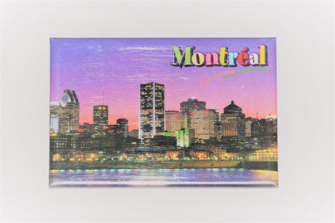 Downtown Montreal at Night Fridge Magnet