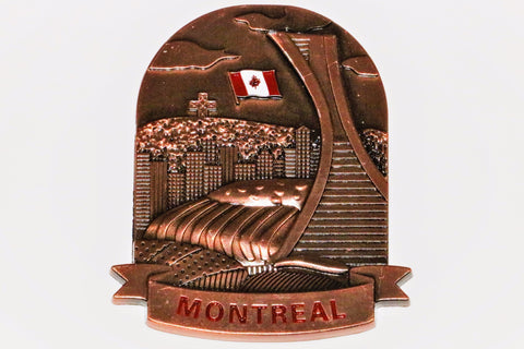 Montreal Landmarks Copper Color Fridge Magnet
