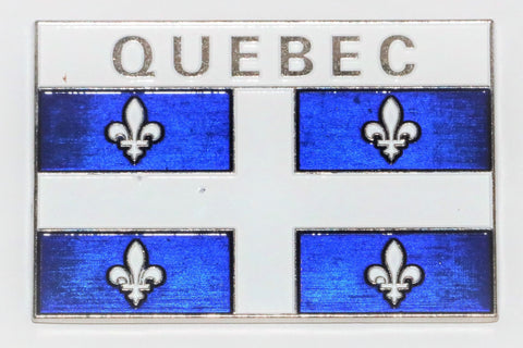 Quebec Metal  Flag Fridge Magnet