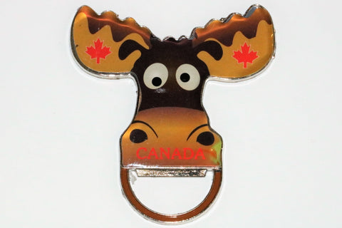 Moose Mouth Metal Bottle Opener Fridge Magnet