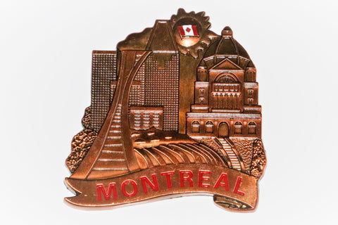 Montreal Landmarks Copper Color Metal Fridge Magnet