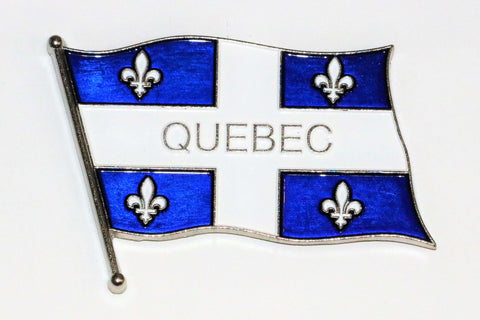 Wavy Quebec Flag Metal Fridge Magnet