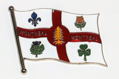 New Wavy Montreal  Flag Metal Fridge Magnet