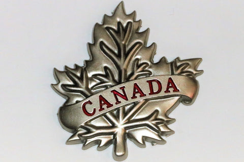Canada Leaf Metal  Fridge Magnet