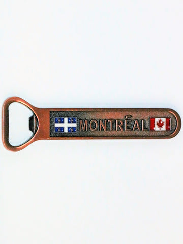Montreal Quebec Copper Color Bottle Opener Fridge Magnet