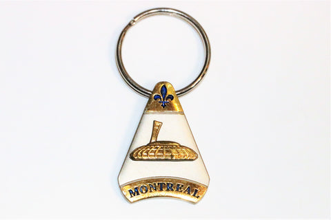 Olympic Stadium in Montreal Canada Souvenir Keychain