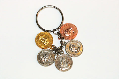 Canadian Money Change Souvenir Keychain