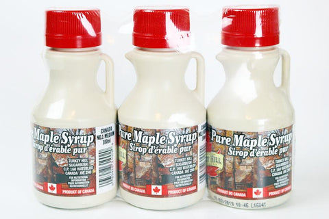 Turkey Hill 100% Pure Maple Syrup Plastic Bottles 40ml (3 Pack)