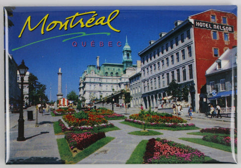 Place Jacques-Cartier Old Montreal During the Day Fridge Magnet