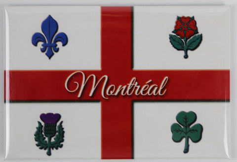 Montreal Flag Fridge Magnet
