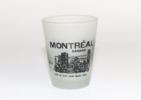 Montreal City Views Frosted Shot Glass Souvenir