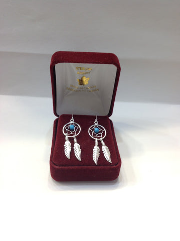 Dreamcatcher Earrings Sterling Jewelry ( Made In Canada )