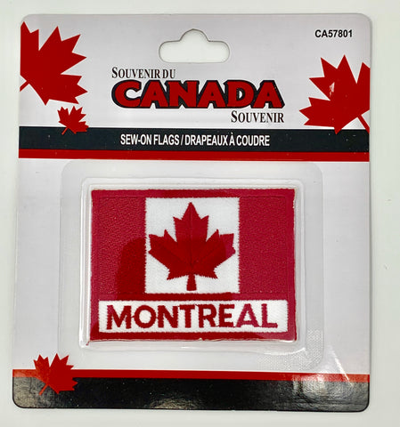Montreal with Sew-On Flag of Canada