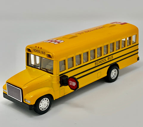Large Montreal/Canada Flag Yellow School Bus Toy