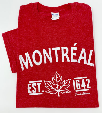 Montreal Red T-Shirt - Unisex Adult