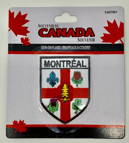 City of Montreal Emblem Sew-On Flag