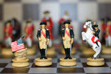 Resin Independence War Themed Chess Pieces.