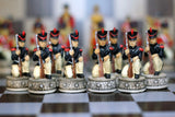 Resin Napolean Themed Chess Pieces