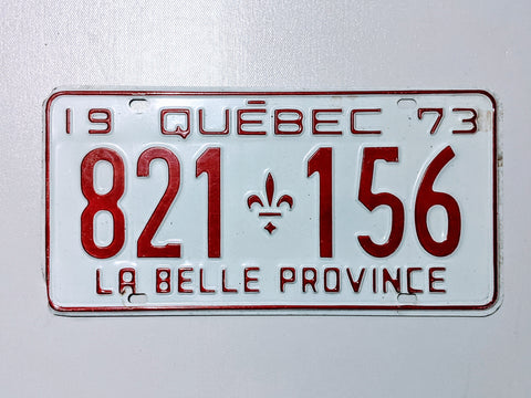Quebec 73' Licence Plate