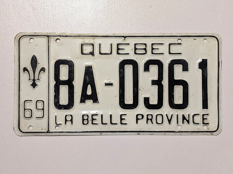 Quebec 69' Licence Plate