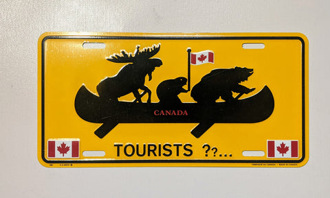 Animals Canoeing Tourists Licence Plate