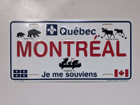 Montreal Animals Licence Plate
