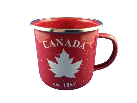 Metal Canada Maple Leaf Mug