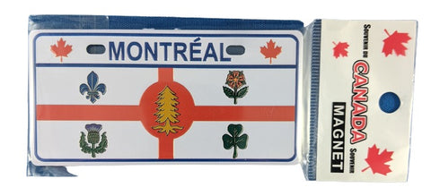 Montreal Coat of Arms Flag Fridge Magnet