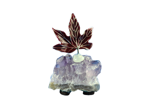 Red Maple Leaf Amethyst Gemstone