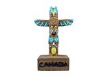 Wood Native American Totem Figurine