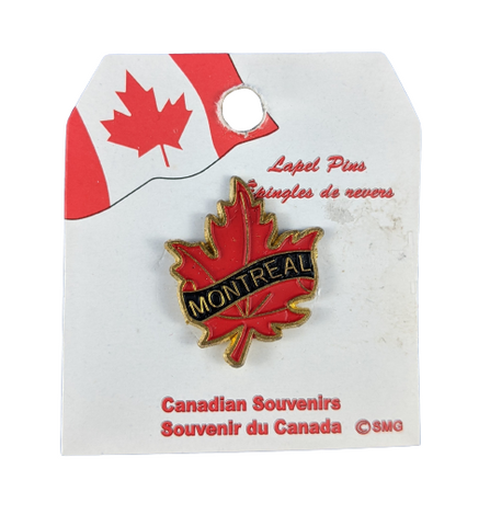 Montreal Red Maple Leaf Lapel Pin