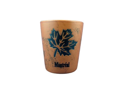 Montreal Canada Maple Leaf Orange Shot Glass