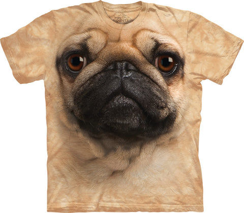 The Mountain T-Shirt - Pug Face (Adult Unisex)