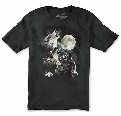The Mountain T-Shirt - Three Wolf Moon Glow in the dark (Adult Unisex)
