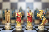 Resin Troy Themed Chess Pieces