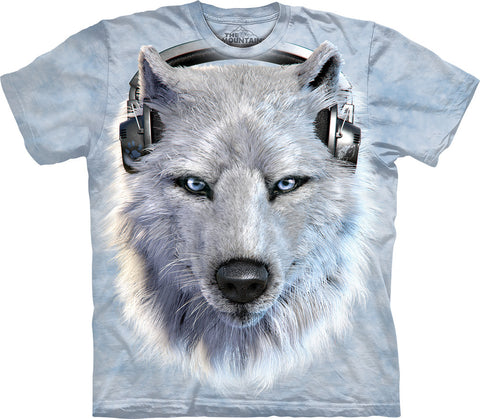 The Mountain T-Shirt - White Wolf DJ (Adult Unisex)