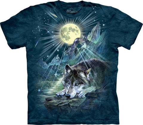 The Mountain T-Shirt - Wolf Night Symphony (Adult Unisex)